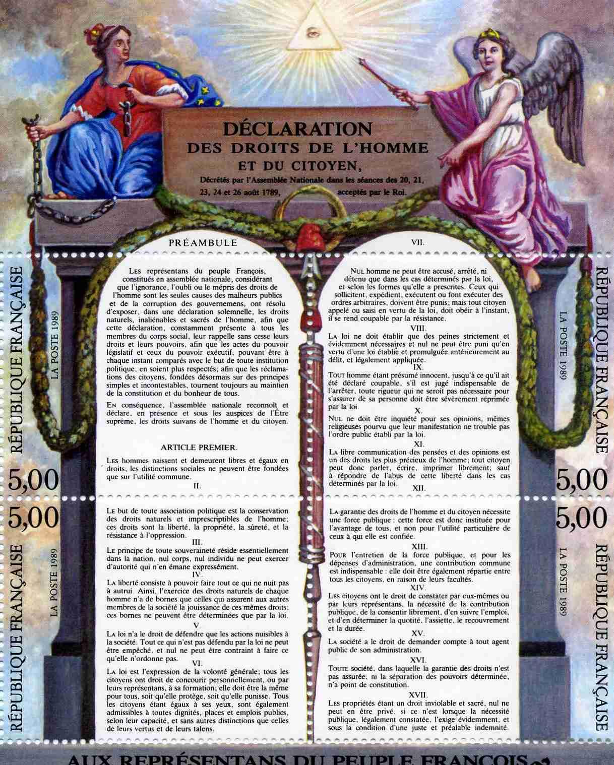 Declaration des droits de l'homme